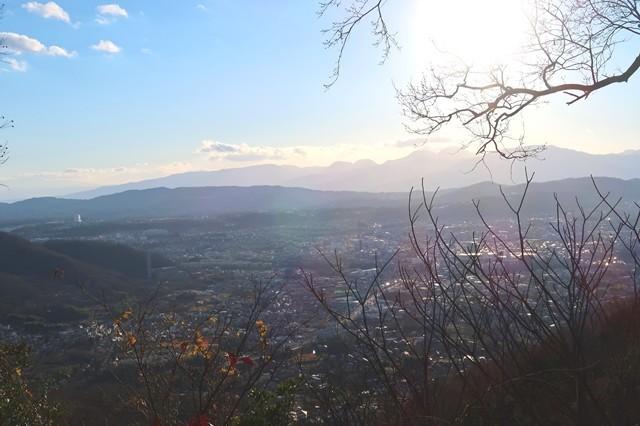 念仏山から箱根の景色