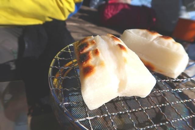 登山・キャンプでお餅焼いて料理