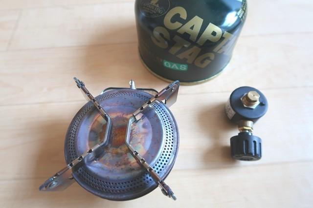 キャプテンスタッグシングルガスバーナーの使い方とセットの仕方
