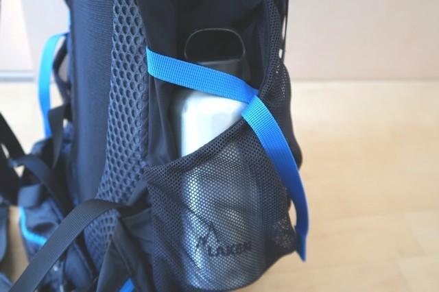 ザックのサイドポケットの固定ベルト