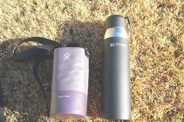 スタンレー水筒とハイドロフラスクの水筒ホルダーを使ったレビュー