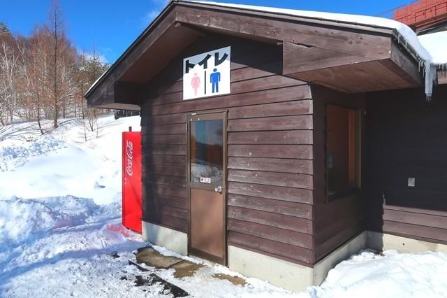 菅平高原奥ダボススノーパークのトイレ