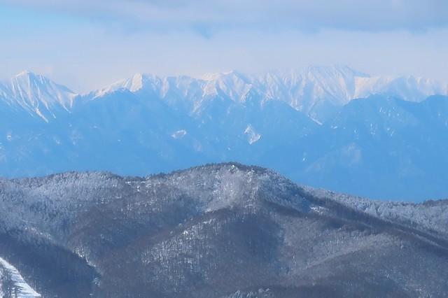 立山と針ノ木岳遠望