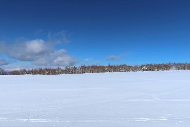 菅平高原奥タボススノーパークリフト乗り場周辺の景色