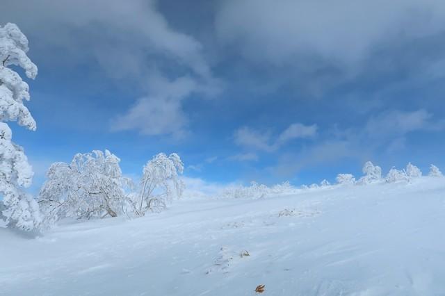 根子岳の山頂が見えない