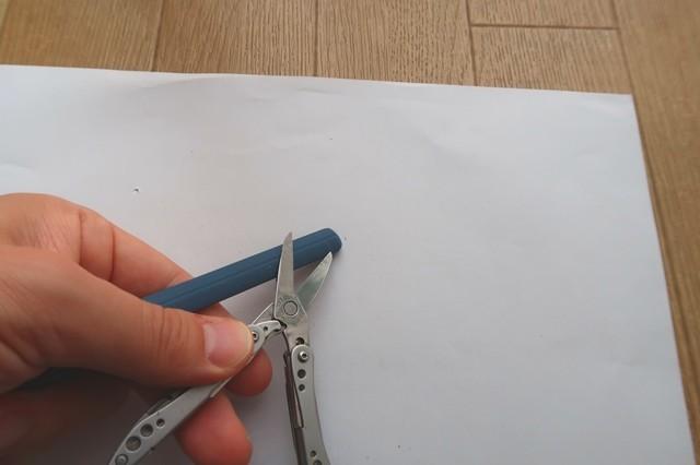 ツールナイフのハサミの研ぎかた詳細