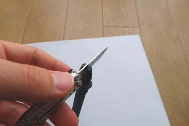 V字タイプの研ぎ器のみでもかなり切れ味が復活する
