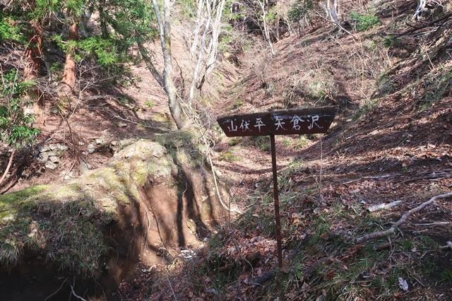 矢倉沢ルート荒れていて登山道が崩壊