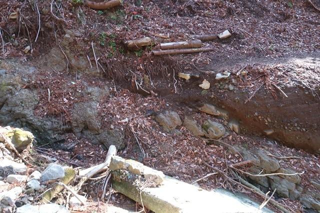 矢倉沢ルート谷筋は登山道が崩壊