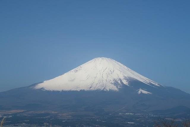 矢倉岳から見る富士山のアップ