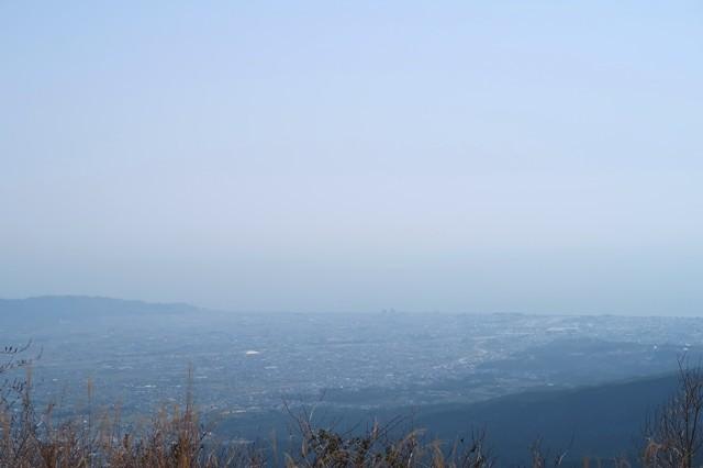 矢倉岳360度の展望で相模湾の景色