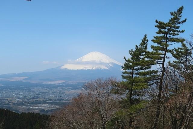 足柄峠からの富士山景色