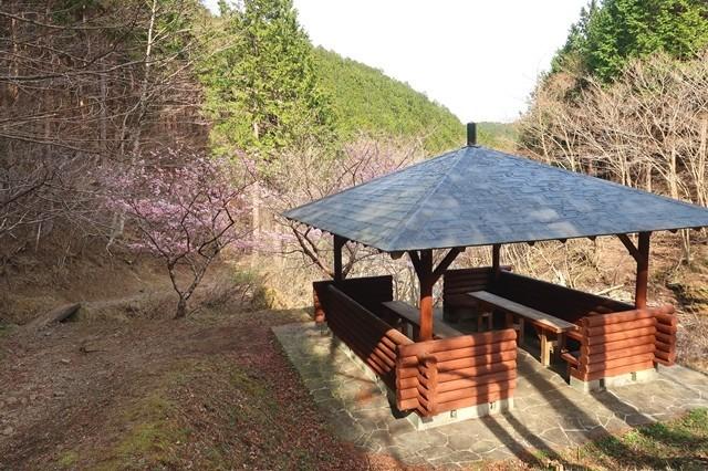 金太郎ハイキングコース合流地点の東屋
