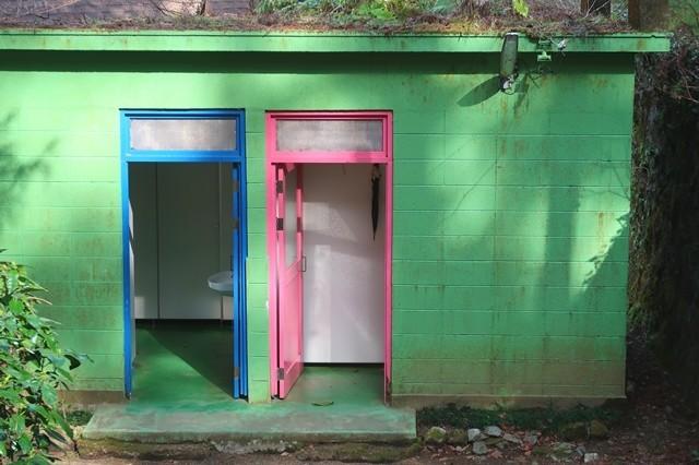 夕日の滝バンガロー内にありますトイレ