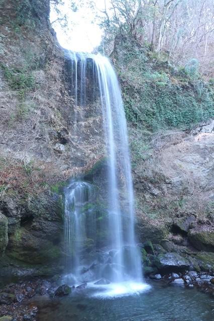 夕日の滝の川は酒匂川の支流内川