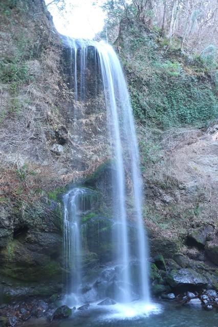 夕日の滝の滝口