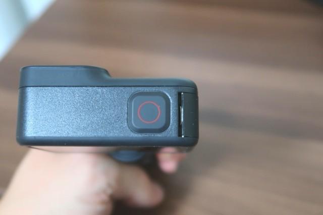 GoProの上部に撮影ボタンがあり撮影可能