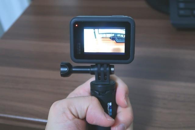 GoProの電源を入れた状態と操作方法