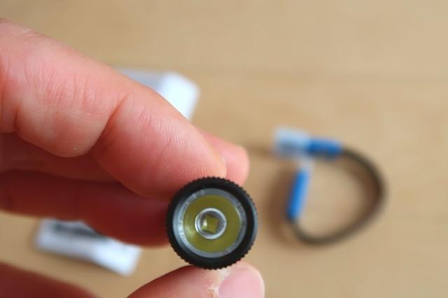 オーライト小型懐中電灯のライト部分