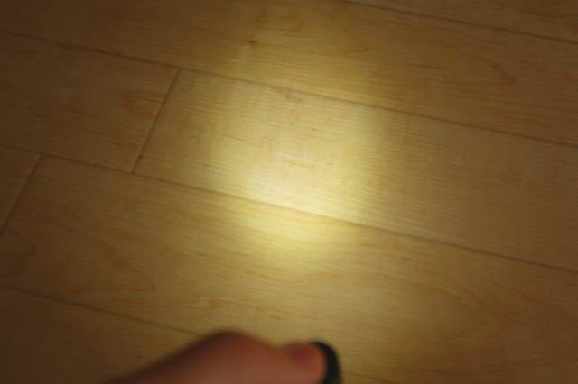 LOWモードである5ルーメンのライト明るさ