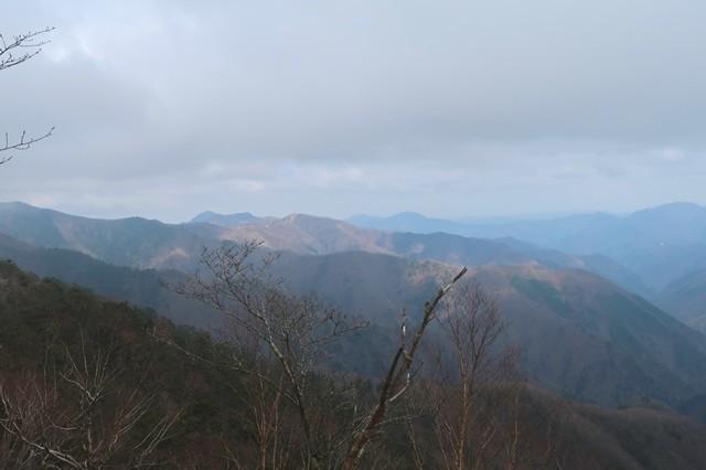 飛龍山登山道からの景色