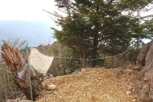前飛龍山の岩岳尾根の入口