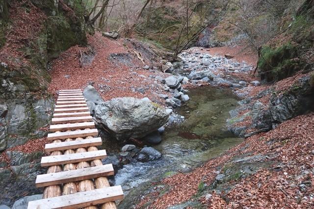 小常木谷沢沿いの登山ルートの様子