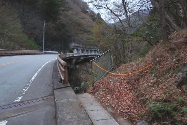 余慶橋から岩岳尾根で飛龍山への入口