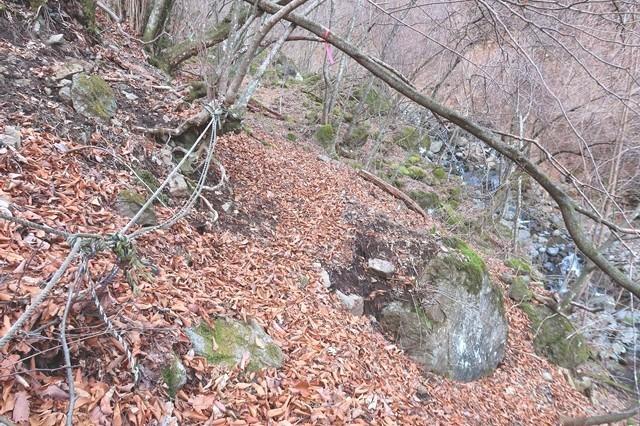 三つ峠北口登山道悪路