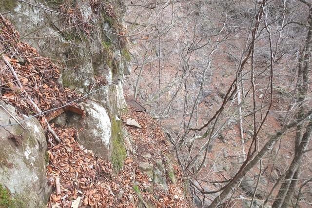 初滝から七福ノ滝までのルート