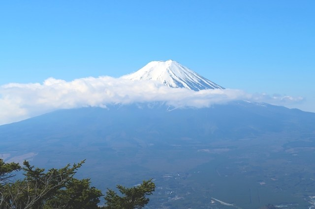 開運山の山頂から見る富士山景色