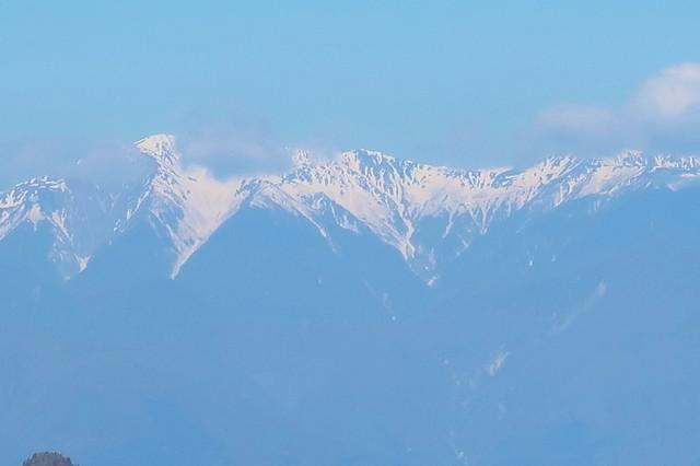 三つ峠山開運山から南アルプスの山々景色