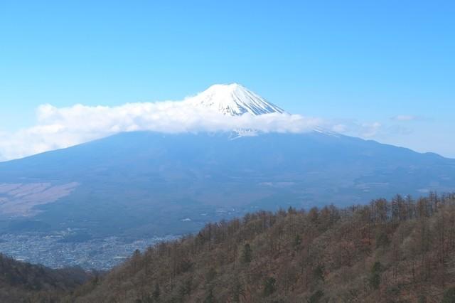 三つ峠山から見る富士山