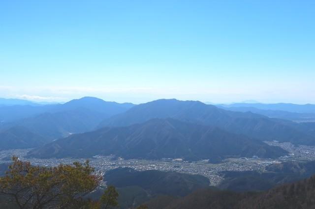木無山の近くからの眺め