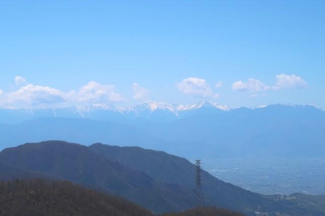 清八山から南アルプス景色