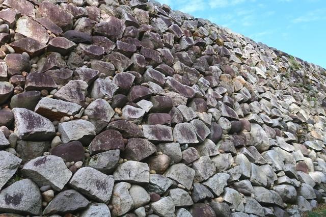 富山城の野面積みの石垣