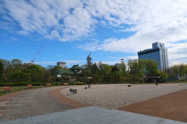 富山城観光中の様子