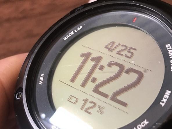 GPS腕時計の傷