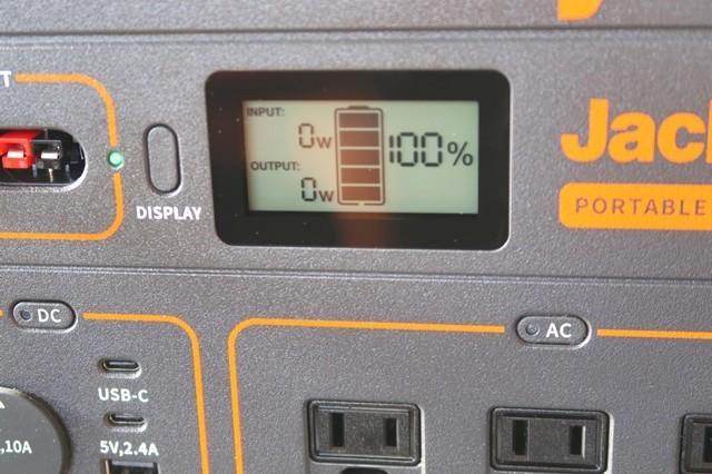 Jackeryポータブル電源1000液晶の表示の意味