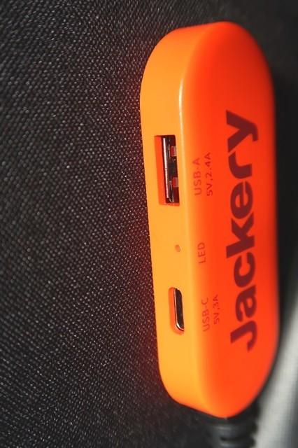 Jackeryソーラーパネル100からスマホやタブレットに直接充電するやり方