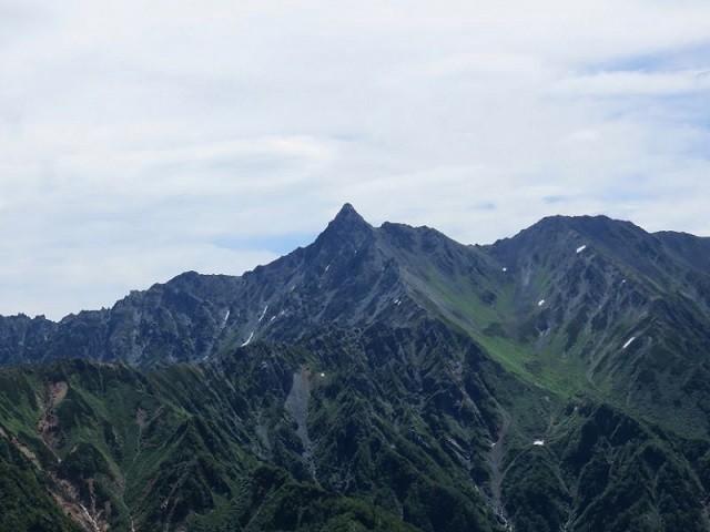 槍ヶ岳滑落現場周辺の写真