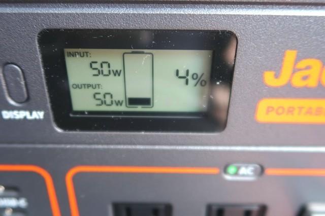 充電直後の消費電力の様子