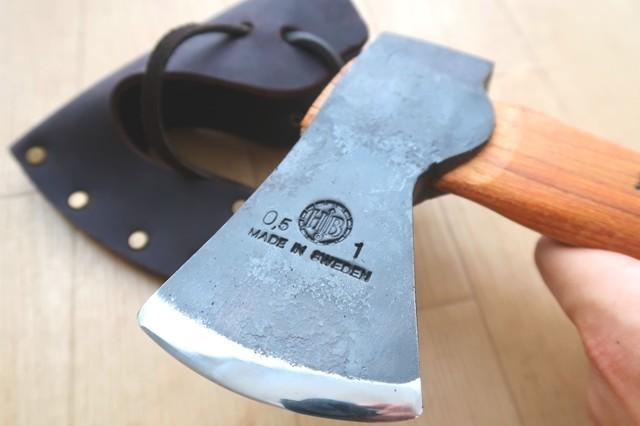 手斧の刃の鋭さ