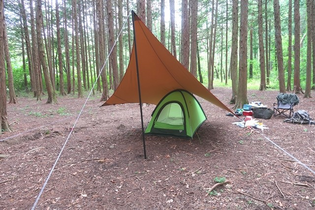 ソロキャンプ仕様のタープの大きさ