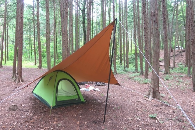 尾白の森キャンプ場にソロキャンプ設営