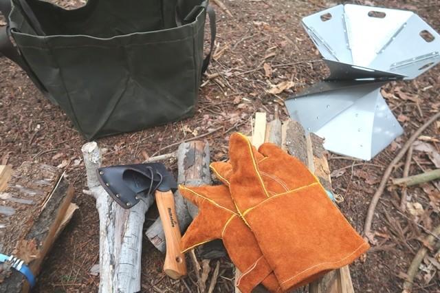 尾白の森キャンプ場で薪を2束購入した