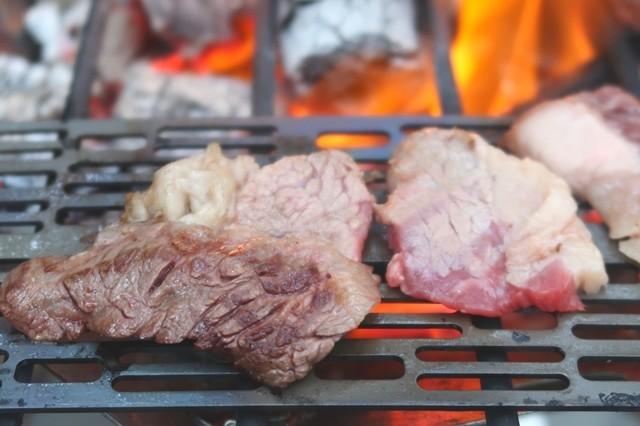お肉が焼きあがった