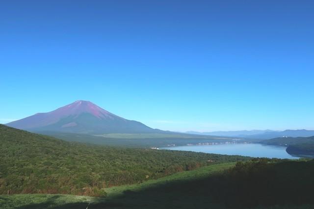 赤富士のような富士山