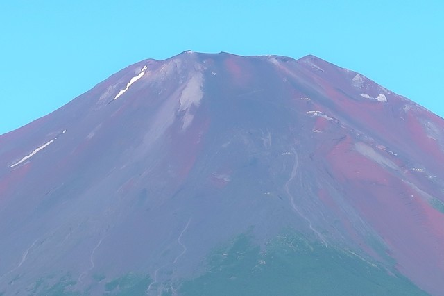 富士山の先っちょの様子