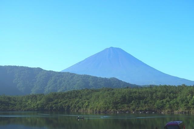 西湖からの富士山眺望